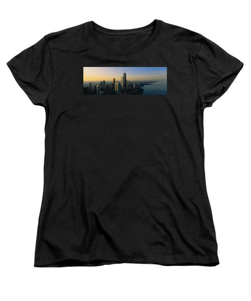 Buildings At The Waterfront, Chicago Women's T-Shirt (Standard Cut) by Panoramic Images
