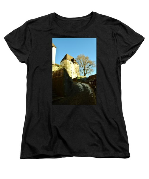 Women's T-Shirt (Standard Cut) featuring the photograph Burgdorf Castle In December by Felicia Tica