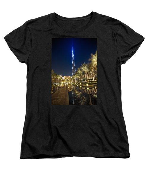 Burj Khalifa Swoard Women's T-Shirt (Standard Cut) by John Swartz