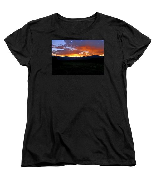 Women's T-Shirt (Standard Cut) featuring the photograph Burning Of Uncertainty by Jeremy Rhoades