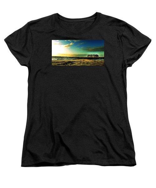 Women's T-Shirt (Standard Cut) featuring the photograph Busselton Jetty by Yew Kwang