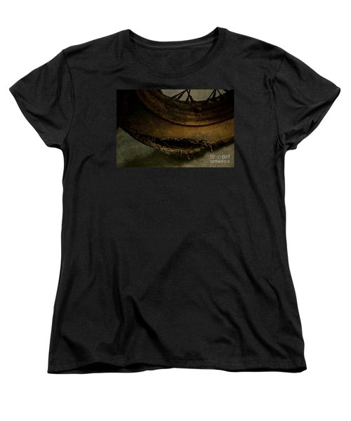 Busted Motorcycle Tire Women's T-Shirt (Standard Cut) by Wilma  Birdwell