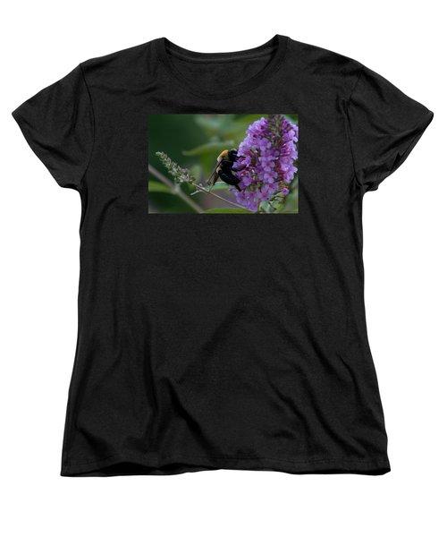 Women's T-Shirt (Standard Cut) featuring the photograph Busy Bee by Greg Graham