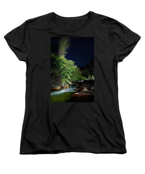 Women's T-Shirt (Standard Cut) featuring the photograph Busy Night by David Andersen