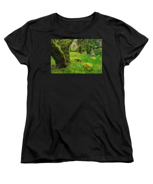 Women's T-Shirt (Standard Cut) featuring the photograph Butchart Gardens - Vancouver Island by Marilyn Wilson