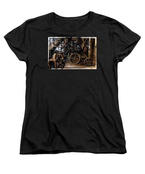 Butte Creek Mill Interior Scene Women's T-Shirt (Standard Cut) by Mick Anderson