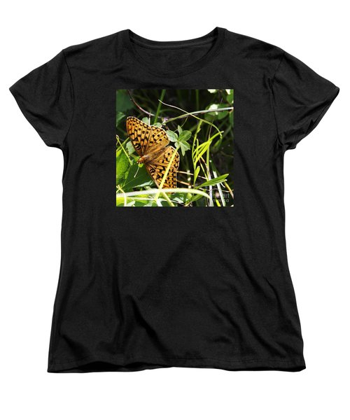 Butterfly At Signal Mountain Women's T-Shirt (Standard Cut) by Belinda Greb