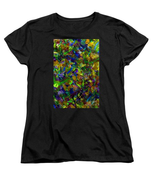 Women's T-Shirt (Standard Cut) featuring the photograph Butterfly Collage Yellow by Robert Meanor