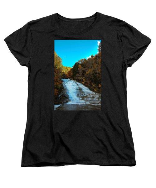 Women's T-Shirt (Standard Cut) featuring the photograph Buttermilk Falls Ithaca New York by Paul Ge
