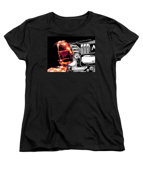 Women's T-Shirt (Standard Cut) featuring the digital art C3po by J Anthony