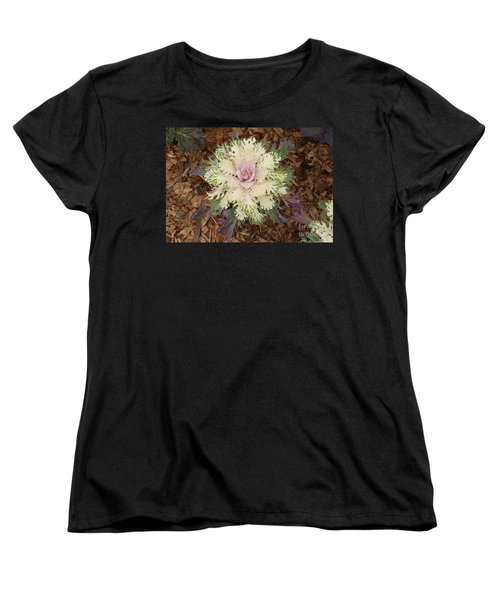 Women's T-Shirt (Standard Cut) featuring the photograph Cabbage Rose by Victoria Harrington