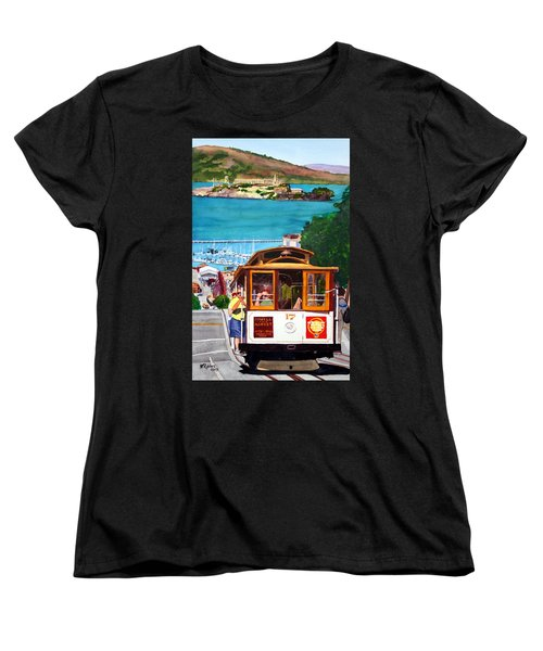 Cable Car No. 17 Women's T-Shirt (Standard Cut) by Mike Robles