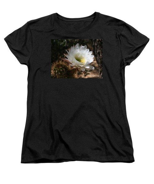 Cactus Flower Full Bloom Women's T-Shirt (Standard Cut) by Tom Janca