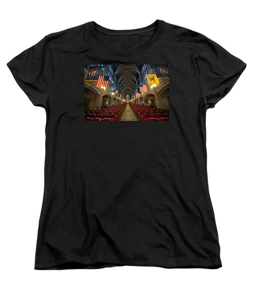 Cadet Chapel Women's T-Shirt (Standard Cut) by Dan McManus