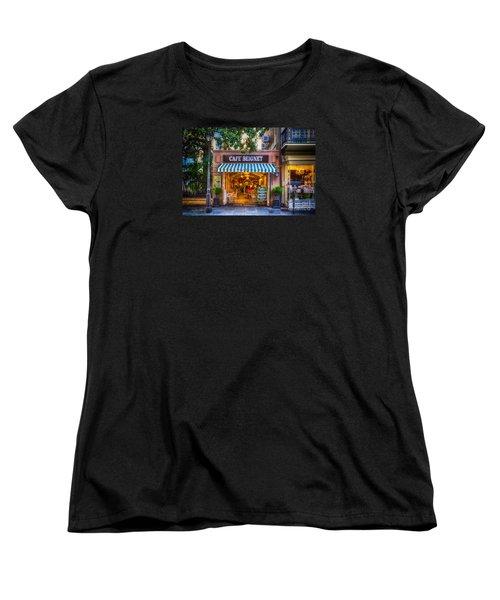 Cafe Beignet Morning Nola Women's T-Shirt (Standard Cut) by Kathleen K Parker