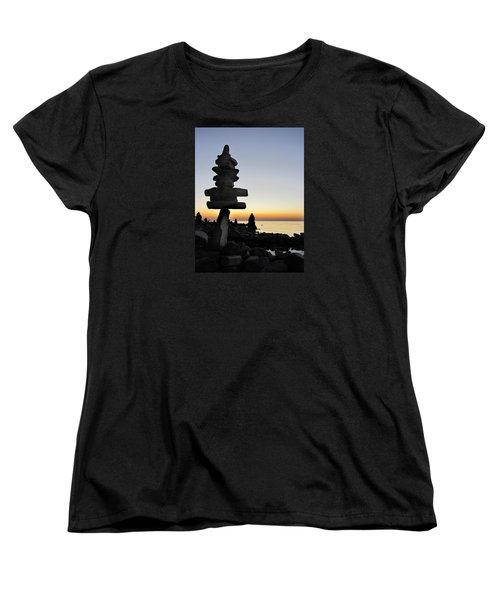 Cairns At Sunset At Door Bluff Headlands Women's T-Shirt (Standard Cut) by David T Wilkinson