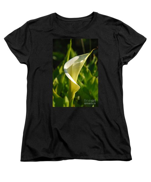 Women's T-Shirt (Standard Cut) featuring the photograph Calla Lily by Mary Carol Story
