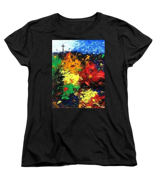 Calvary Hill Women's T-Shirt (Standard Cut) by Kume Bryant
