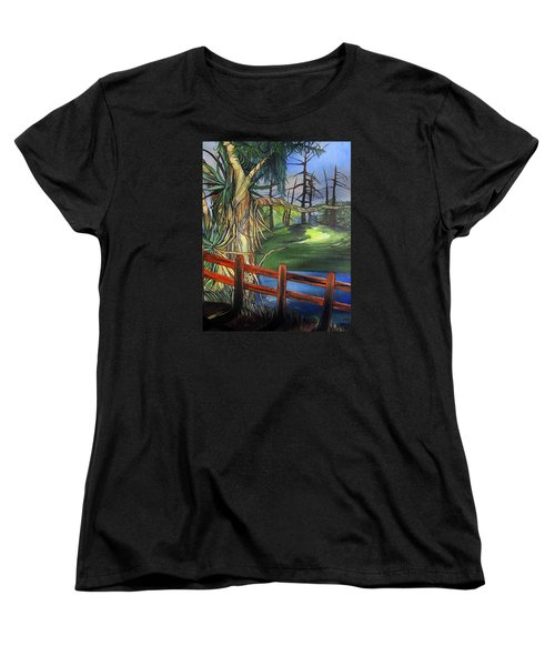Camino Real Park Women's T-Shirt (Standard Cut) by Mary Ellen Frazee