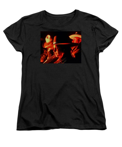 Campfire Glow Women's T-Shirt (Standard Cut) by Diane Bohna
