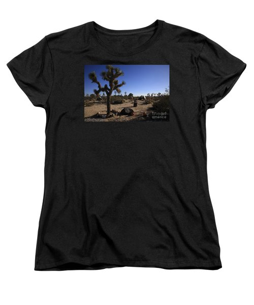 Camping In The Desert Women's T-Shirt (Standard Cut) by Nina Prommer