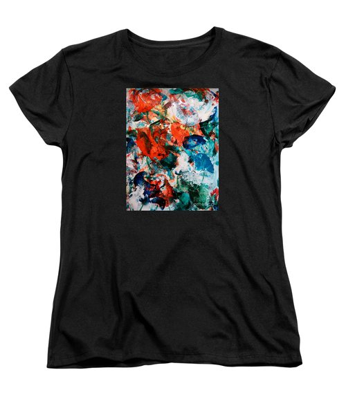 Women's T-Shirt (Standard Cut) featuring the painting Can I Have This Dance by Lori  Lovetere