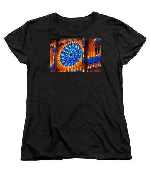 Candle Lights On Walls Women's T-Shirt (Standard Cut) by Miroslava Jurcik
