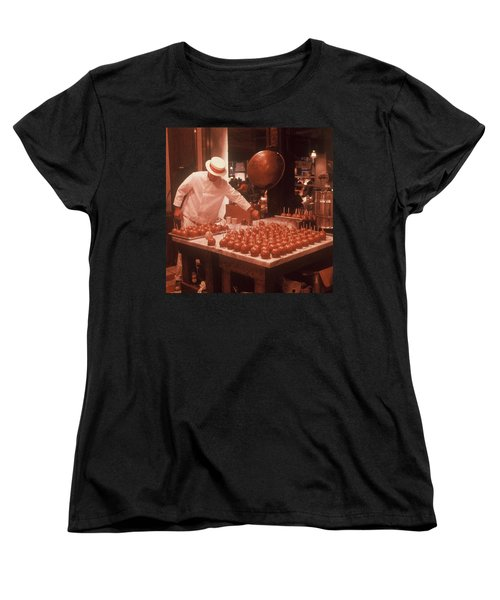Women's T-Shirt (Standard Cut) featuring the photograph Candy Apple Man by Rodney Lee Williams