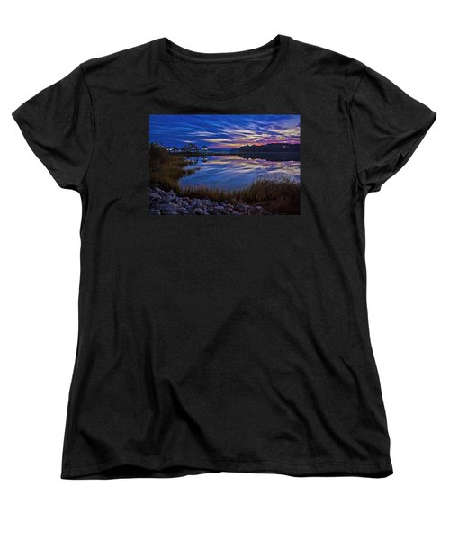 Cape Charles Sunrise Women's T-Shirt (Standard Cut) by Suzanne Stout