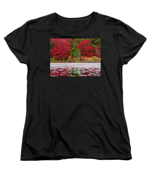 Women's T-Shirt (Standard Cut) featuring the photograph Cape Cod Autumn by Dianne Cowen