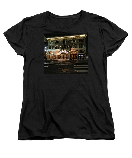 Women's T-Shirt (Standard Cut) featuring the photograph Capitol Theatre by Ely Arsha