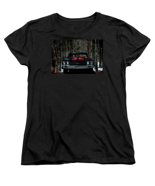 Car Art Chevy Chevelle Ss Hdr Women's T-Shirt (Standard Cut)