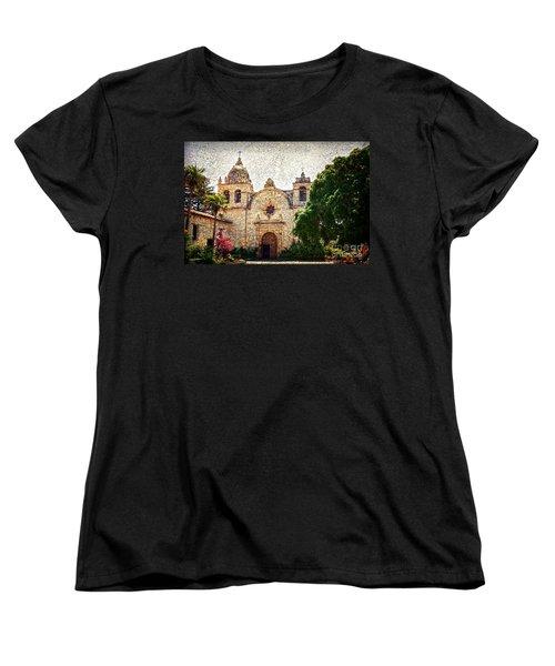 Carmel Mission Women's T-Shirt (Standard Cut) by RicardMN Photography