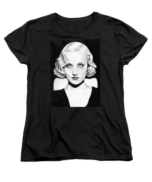 Carole Lombard Women's T-Shirt (Standard Cut) by Fred Larucci