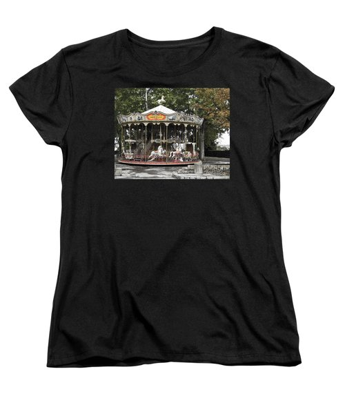 Women's T-Shirt (Standard Cut) featuring the photograph Carousel by Victoria Harrington