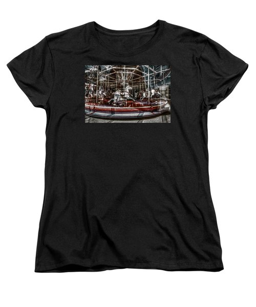 Carousel Women's T-Shirt (Standard Cut) by Wayne Sherriff