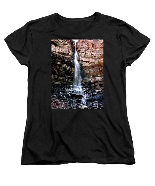 Cascade Falls Women's T-Shirt (Standard Cut) by Jeff Gater