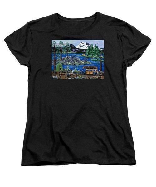 Cascade Lake Sparks Women's T-Shirt (Standard Cut) by Jennifer Lake