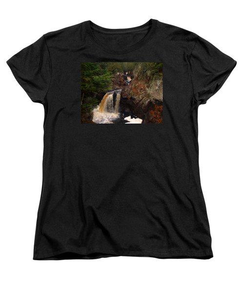 Cascade River Women's T-Shirt (Standard Cut) by James Peterson
