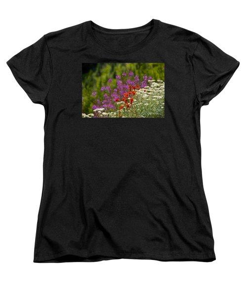 Cascade Wildflowers Women's T-Shirt (Standard Cut) by Sean Griffin