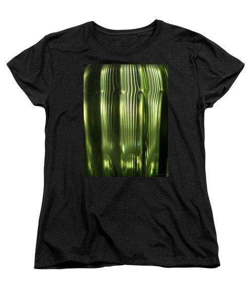 Women's T-Shirt (Standard Cut) featuring the photograph Cascading Green by Leena Pekkalainen