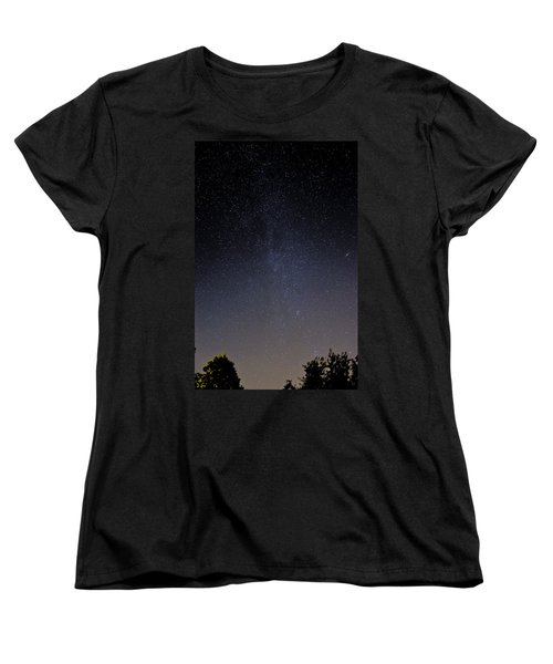 Women's T-Shirt (Standard Cut) featuring the photograph Cassiopeia And Andromeda Galaxy 01 by Greg Reed