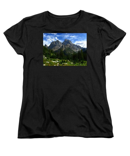 Women's T-Shirt (Standard Cut) featuring the photograph Cathedral Group From The Northwest by Raymond Salani III