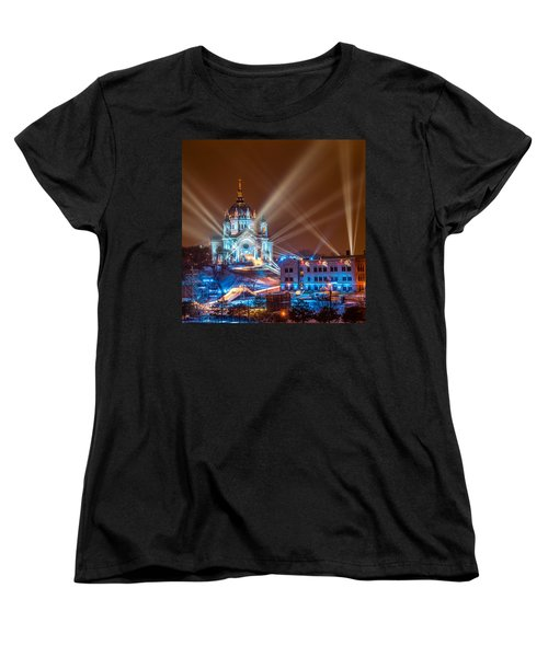 Cathedral Of St Paul Ready For Red Bull Crashed Ice Women's T-Shirt (Standard Cut) by Paul Freidlund