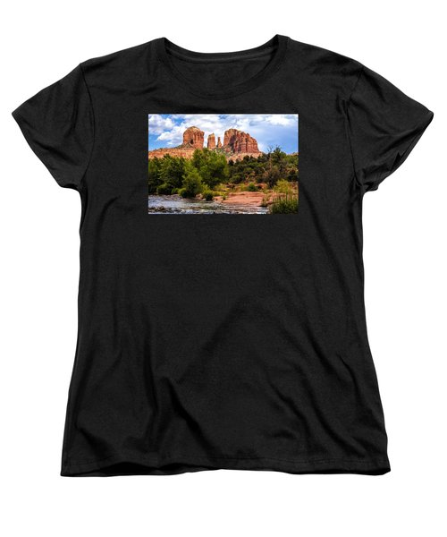 Cathedral Rock Women's T-Shirt (Standard Cut) by Fred Larson