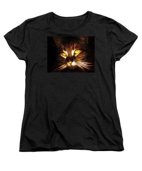 Cat's Eyes - Fractal Women's T-Shirt (Standard Cut) by Lilia D