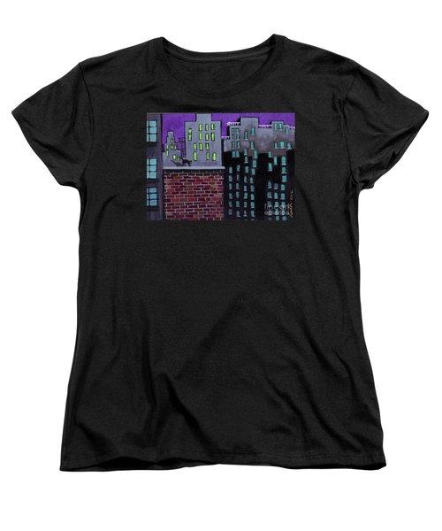 Cat's Night Women's T-Shirt (Standard Cut)