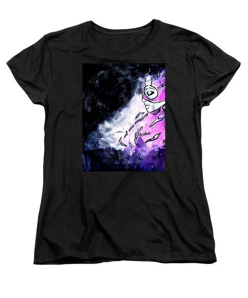 Catwoman Purple Suit Women's T-Shirt (Standard Cut) by Marisela Mungia