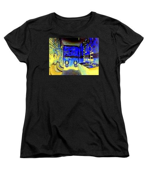 Cbgb's Notorious Mens Room Women's T-Shirt (Standard Cut) by Ed Weidman