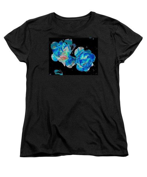 Celestial Blooms Women's T-Shirt (Standard Cut) by Stephanie Grant